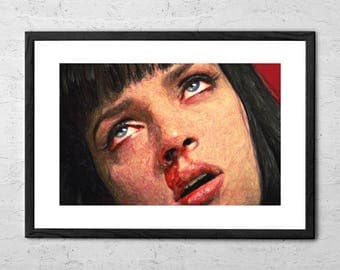 Mia Wallace - Painting - Pulp Fiction - Pulp Fiction Poster - Pulp Fiction Art - Movie Poster - Quentin Tarantino - Mia Wallace Art Print