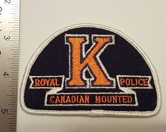 Canada - Royal Canadian Mounted Police - RCMP K Division Patch (Alberta)