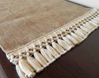"Burlap Table Runner 18"" - Home decor - Choose your length"
