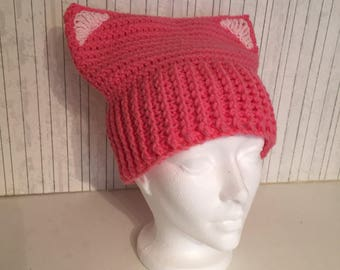 All Pink Kitty Kat Hat