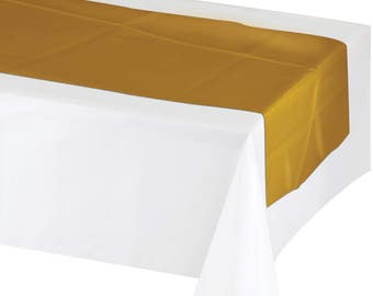 Gold Table Runner/ Gold Party Decor/ Gold Party Supplies