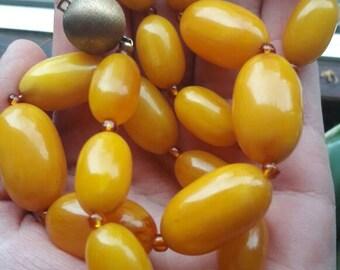 Amber necklace,vintage