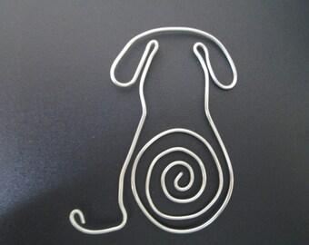 Wire Dog Bookmark