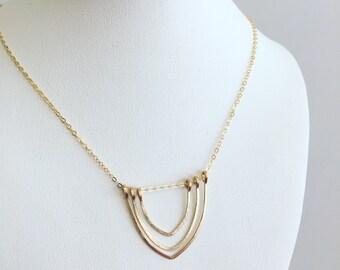 Boho necklace, minimalist necklace, layering necklace, bridesmaid necklace, gold necklace, delicate necklace