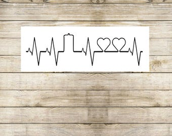 police box   life line   heart   police box decal   TARDIS decal    Time And Relative Dimension in Space   car decal   tumbler decal