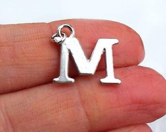 One Letter M, Alphabet Charm, M, Letter M