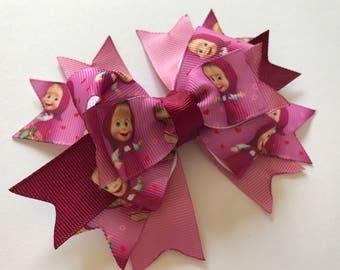 Purple & lilac stacked hair bow Big bows OTT bair bows