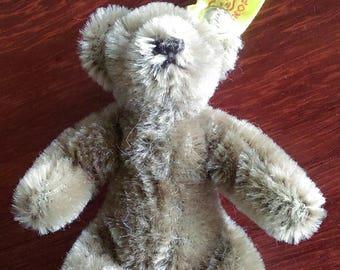 """Steiff Miniature 4"""" Teddy Bear - Caramel - Vintage"""