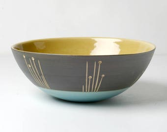 Hand thrown Bowl for soup, cereal, and gifts for the she