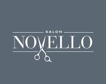 Hair Salon Logo, Salon Logo, Beauty Salon Logo, Spa Logo, Beauty Logo & Boutique Logo with Scissors, Shears, Haircut, Haircuts, Snip and Cut