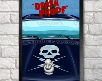 Death Proof Poster Print A3+ 13 x 19 in - 33 x 48 cm  Buy 2 get 1 FREE