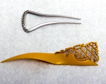 Vintage Combs - Fork and Pick - Art Nouveau - Art Deco