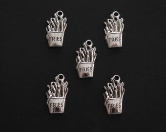 Fries Charms, Destash - Never used, 1.8cm X0.7cm (Set of 5)