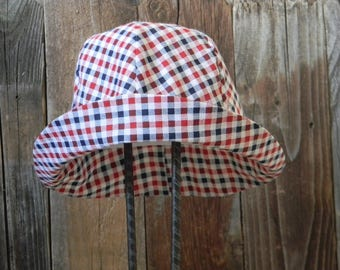 Child RWB Checked Hat