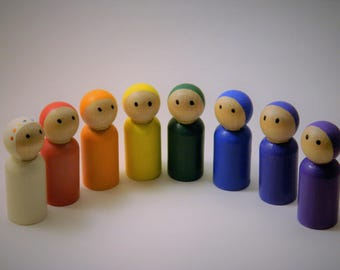 Rainbow Peg People