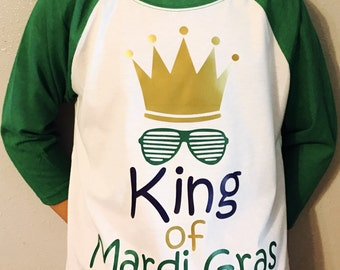 King of Mardi Gras Youth Raglan