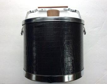 Vintage mid century retro ice bucket