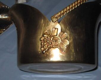 Large Solid Brass Fancy Bucket