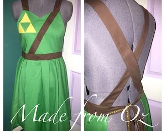 """Zelda inspired """"Link"""" apron"""