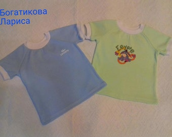 T-shirt for boys and girls 6-9 months