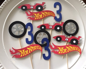 Hot wheels cupcake toppers