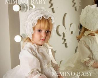IZABELLA christening bonnet