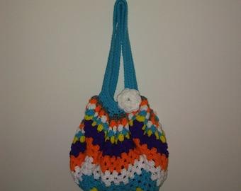 Colorful beach tote