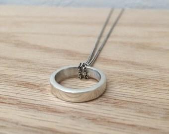 Sterling Silver Necklace No. 6 - Geometric - Modern - Handmade