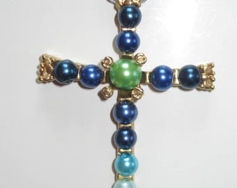 Cross Pearl glass of 7cm in 5 cm