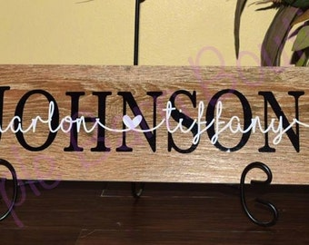Personalized Ceramic or Wood Name Sign