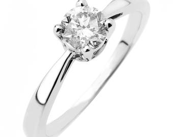 1/2 carat solitaire diamond ring for women