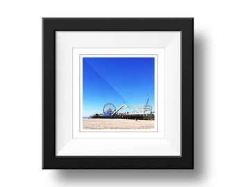 Los Angeles Photograph, Santa Monica Pier Print, Square Wall Art