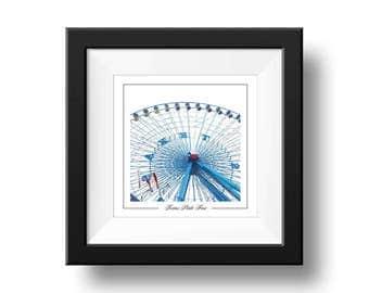 Texas State Fair Print, Ferris Wheel Photography, Square Wall Art