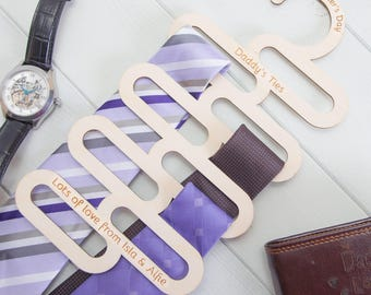 Personalised Birchwood Tie Hanger