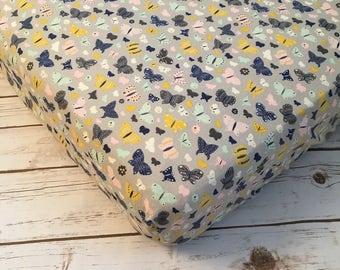 Butterfly Girl's Crib Sheet