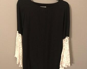 Black Lace Arms Dress