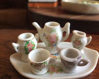 Miniature 6 pc tea set- occupied Japan