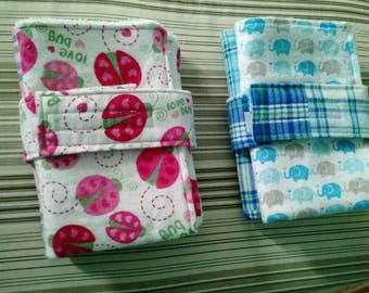 Create Your Own Bundle, 2 Burp Cloths 1 Diaper Strap Per Set, Burp Cloth Bundles