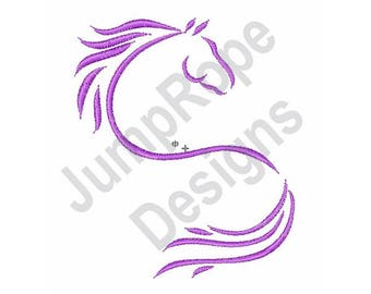 Horse Outline - Machine Embroidery Design
