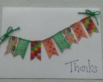 Thank you card with bunting