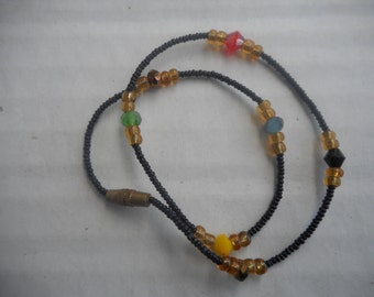 Tiny beaded African anklets
