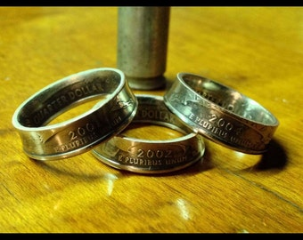 Made to order quarter coin rings