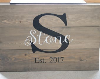 Custom Wedding Guestbook - painted solid wood sign - wedding details - keepsake - rustic wedding decor