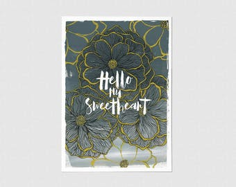 Hello My Sweetheart Greeting Card