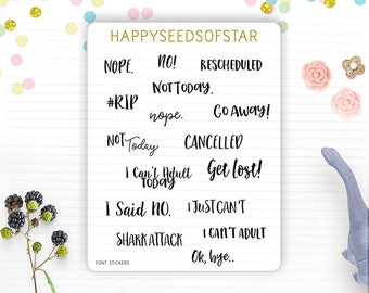 Planner Sticker - Assorted Fonts. Bad Day
