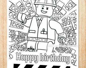 Lego happy birthday | Etsy