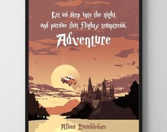 Harry Potter Movie Poster - Movie Print, Film Poster, Kids Room Art, Hogwarts