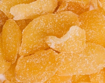 Ginger | Crystallized | Candied Ginger | Nausea Relief | Whole Herbs | 1 Ounce