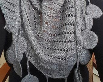 LuckySharmByEda....Crochet Handmade  infinity wool scarf