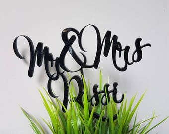 Cake topper black plexiglass